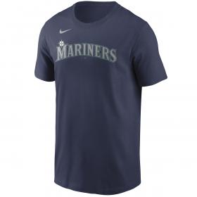 Men's Nike Wordmark T-shirt MLB Seattle Mariners Navy