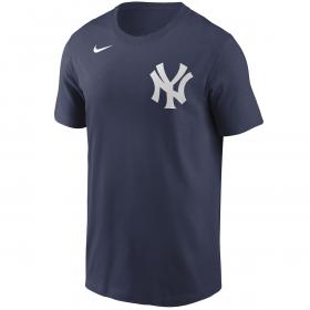 T-Shirt MLB New York Yankees Nike Wordmark bleu marine pour Homme