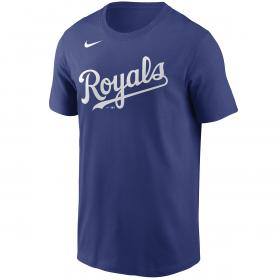 T-Shirt MLB Kansas City Royals Nike Wordmark bleu pour Homme