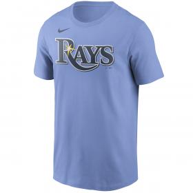 T-Shirt MLB Tampa Bay Rays Nike Wordmark bleu pour Homme
