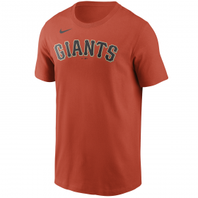 Men's Nike Wordmark T-shirt MLB San Francisco Giants Orange