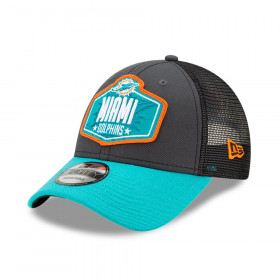 Casquette NFL Miami Dolphins New Era NFL21 Draft 9forty Noir