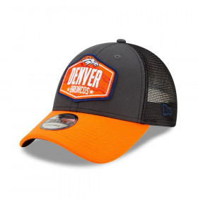 Casquette NFL Denver Broncos New Era NFL21 Draft 9forty Noir