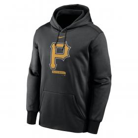 Men's Nike Logo Therma Performance Pullover Hoodie MLB Pittsburgh Pirates Black
