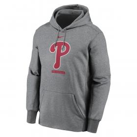 Men's Nike Logo Therma Performance Pullover Hoodie MLB Philadephia Phillies Grey
