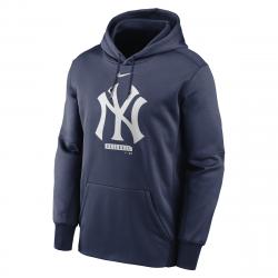 Sweat à capuche MLB New York Yankees Nike Logo Therma Performance Bleu marine