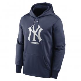 Men's Nike Logo Therma Performance Pullover Hoodie MLB New York Yankees Navy