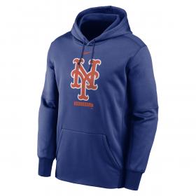 Men's Nike Logo Therma Performance Pullover Hoodie MLB New York Mets Blue