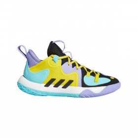 Chaussure de Basketball adidas James Harden Stepback 2 Bleu YLW pour Junior