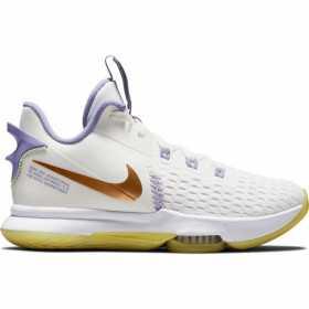 Nike LeBron Witness 5 Basketball shoe White BRZ