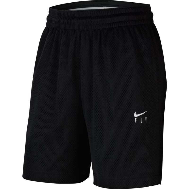 Short de Basketball Nike Swoosh Fly Noir pour Femme