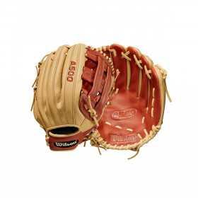 Kid's Wilson A500 2021 Outfiled Cream Baseball Gloves