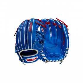 """Gant de Baseball Wilson A2000 VG27 SuperSkin Infield 12.25"""" Bleu"""