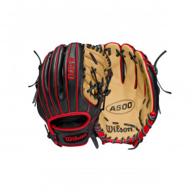 Youth's Wilson A500 2021 Infield black Baseball Gloves