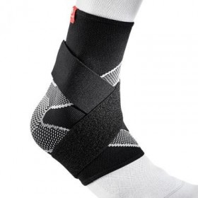 Mcdavid Ankle Sleeve 4 Way Elastic With Figure 8 Straps blac