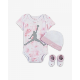 Baby's Jordan Aj Classic Bodysuit crepper set Pin White Pink
