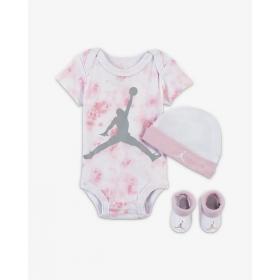Set Body chausson et bonnet Jordan Aj Classic WHT Rose pour bébé