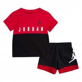 T-shirt et short Jordan Knit Rouge Pour bébé