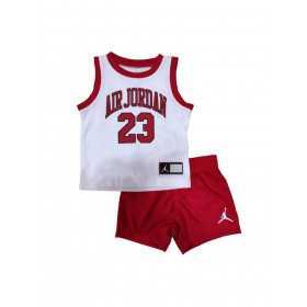 Baby's Jordan Muscle Tank Short set White