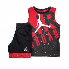 Débardeur et short Jordan Muscle Rouge Pour Enfant