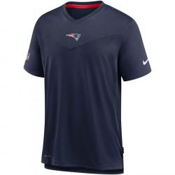 T-shirt NFL New England Patriots Nike top Coach UV Bleu marine pour homme