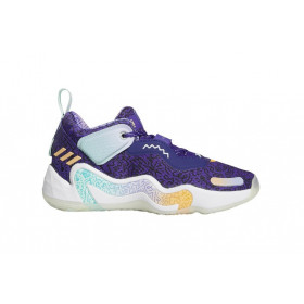 Youth's adidas D.O.N. Issue 3 Navy Basketball Shoe
