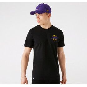Men's New Era Neon NBA Los Angeles Lakers Black