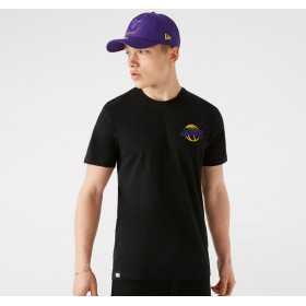 T-Shirt NBA Los Angeles Lakers New Era Neon Noir pour Homme