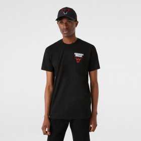 Men's New Era Neon T-shirt NBA Chicago Bulls Black