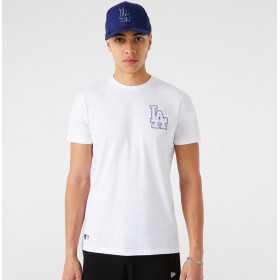 T-Shirt MLB Los Angeles Dodgers New Era Chain Stitch Blanc