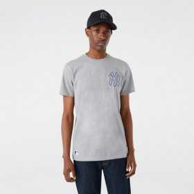 Men's New Era Chain Stitch T-shirt MLB New York Yankees grey