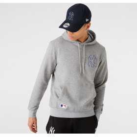 Men's New Era Chain Stitch Hoody MLB New York Yankees Grey