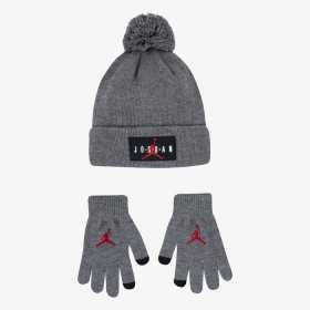 Bonnet et gants Jordan gris pour enfant
