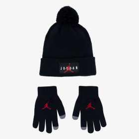 Bonnet et gants Jordan Noir pour enfant