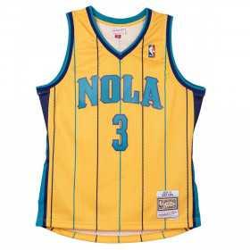 Maillot NBA Chris Paul New Orleans Hornets 2010-11 Mitchell & ness Hardwood Classic Jaune