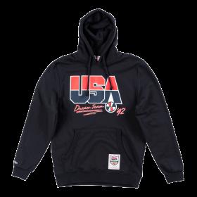 Sweat à capuche USA Dream Team 1992 Mitchell & Ness Noir pour homme