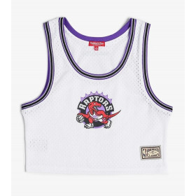 Maillot NBA Toronto Raptors Mitchell & ness Mesh Crop top Blanc pour femme