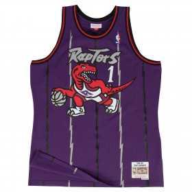 Kid's Mitchell & Ness Hardwood Classic NBA Jersey Tracy McGrady Toronto Purple Raptors 1998-99 Purple