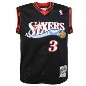 Maillot NBA Allen Iverson Philadelphia 76ers 2000-01 Mitchell & Ness Hardwood Classic Noir Pour enfant