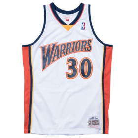 Maillot NBA Stephen Curry Golden State Warriors 2009-10 Mitchell & ness Hardwood Classic Blanc Pour enfant