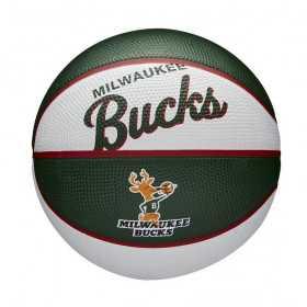 Mini Ballon de Basketball NBA Milwaukee Bucks Wilson Team Retro Exterieur