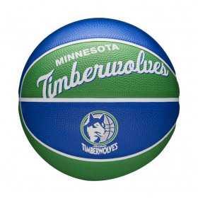 Mini Ballon de Basketball NBA Minnesota Timberwolves Wilson Team Retro Exterieur