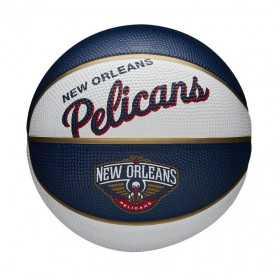Mini Ballon de Basketball NBA New Orleans Pelicans Wilson Team Retro Exterieur