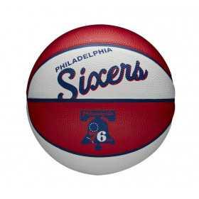 Mini Ballon de Basketball NBA Philadelphia 76ers Wilson Team Retro Exterieur