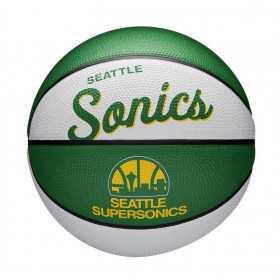Mini Ballon de Basketball NBA Seattle Supersonics Wilson Team Retro Exterieur