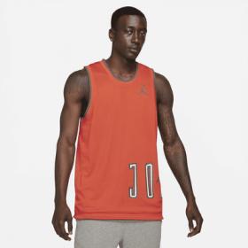 Maillot reversible Jordan Sport DNA Orange pour homme