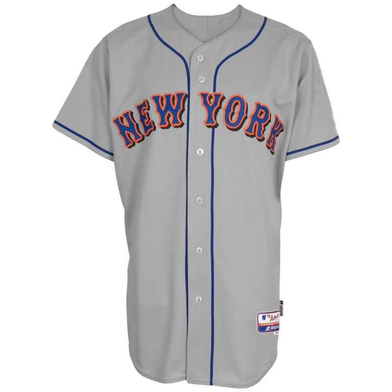 maillot baseball mlb new york mets majestic replica gris. Black Bedroom Furniture Sets. Home Design Ideas
