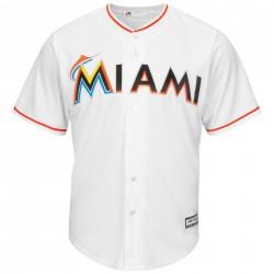 Majestic Replica Maillot Baseball Miami Marlins Blanc