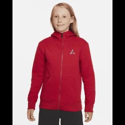 Sweat à capuche zippé Jordan Essentials Rouge pour Junior