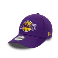 Casquette NBA Los Angeles Lakers New Era The League 9forty Ajustable Violet pour enfant